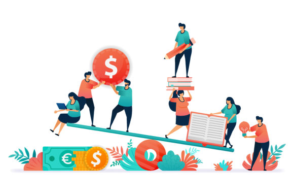 Download Free Balance Between Finance And Education Graphic By SVG Cut Files