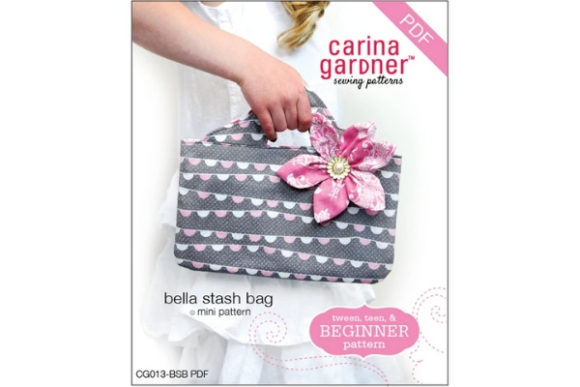 Bella Stash Bag Sewing Pattern Graphic Sewing Patterns By carina2 - Image 1