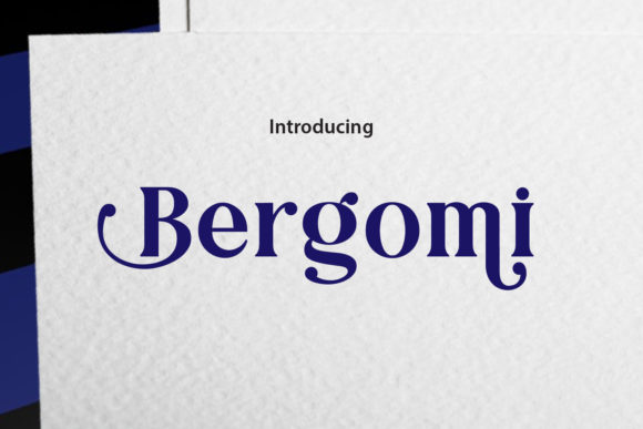 Print on Demand: Bergomi Serif Font By da_only_aan
