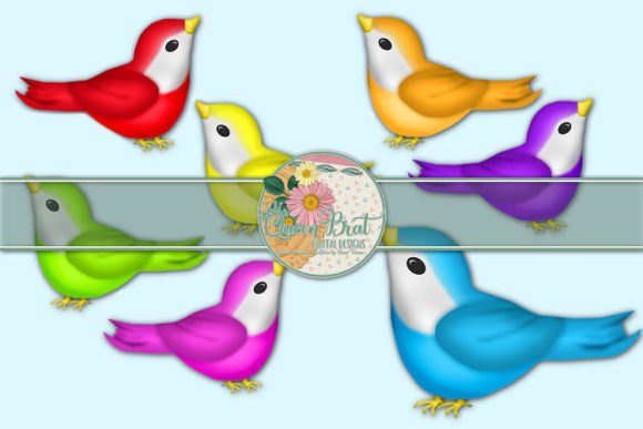 Print on Demand: Bird Pack 2 Graphic Illustrations By QueenBrat Digital Designs