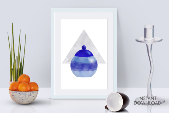 Download Free Blue Cookie Jar Abstract Printable Art Graphic By Artsbynaty for Cricut Explore, Silhouette and other cutting machines.