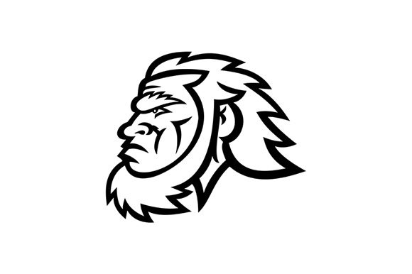 Download Free Caveman Head Side Graphic By Patrimonio Creative Fabrica for Cricut Explore, Silhouette and other cutting machines.