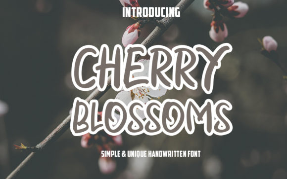 Print on Demand: Cherry Blossoms Script & Handwritten Font By Graph Arts