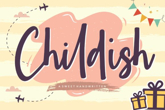 Print on Demand: Childish Script & Handwritten Font By Balpirick