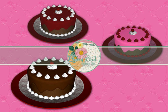 Download Free Chocolate Cakes Graphic By Queenbrat Digital Designs Creative for Cricut Explore, Silhouette and other cutting machines.