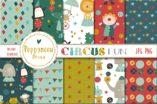 Print on Demand: Circus Fun Papers Graphic Patterns By poppymoondesign