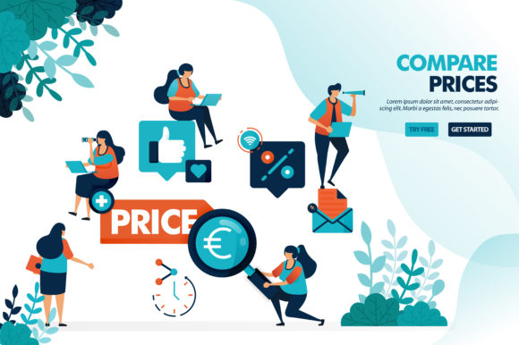 Download Free Compare Prices For Stores And Products Graphic By for Cricut Explore, Silhouette and other cutting machines.