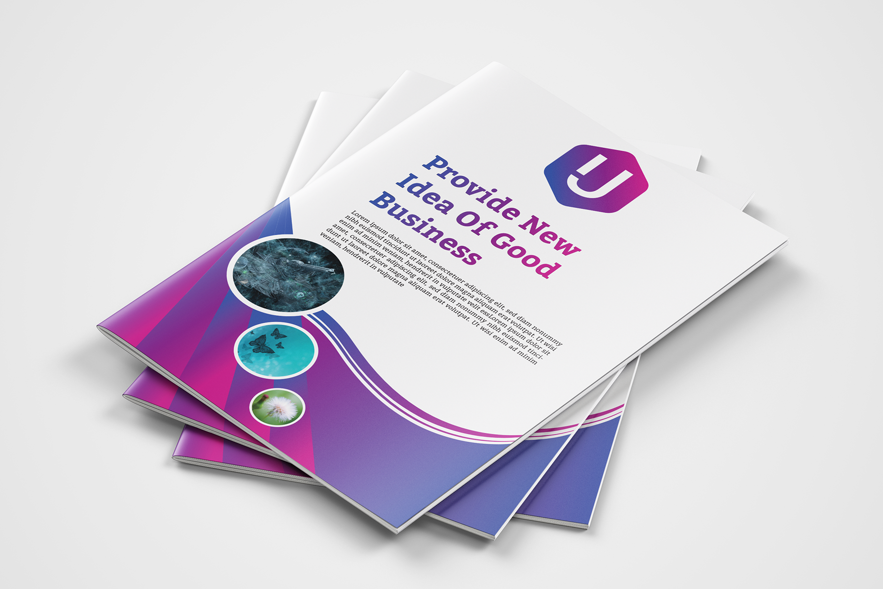 Download Free Corporate Bi Fold Brochure Template Graphic By Ju Design for Cricut Explore, Silhouette and other cutting machines.