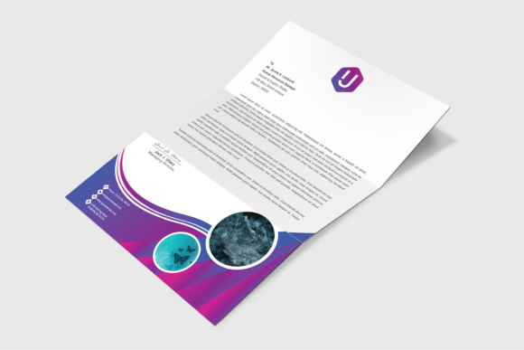 Download Free Corporate Letterhead Template Graphic By Ju Design Creative for Cricut Explore, Silhouette and other cutting machines.