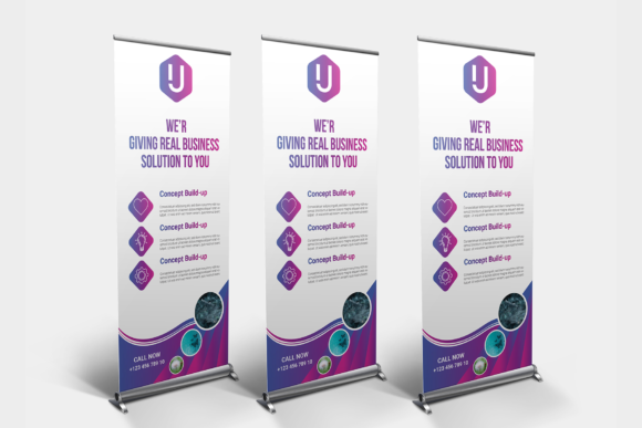 Download Free Corporate Roll Up Or Banner Graphic By Ju Design Creative Fabrica for Cricut Explore, Silhouette and other cutting machines.