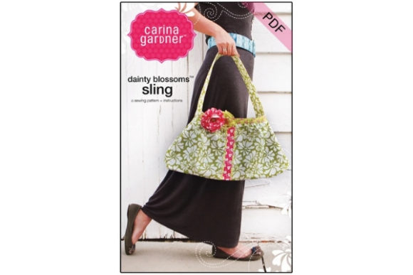 Dainty Blossoms Sling Sewing Pattern Graphic Sewing Patterns By carina2