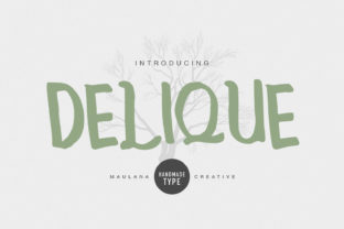 Print on Demand: Delique Display Font By Maulana Creative