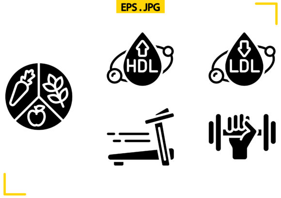 Diet and Fitness Solid Graphic Icons By raraden655