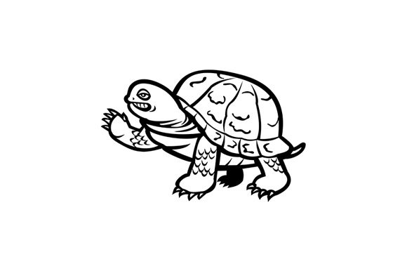 Download Free Eastern Box Turtle Waving Graphic By Patrimonio Creative Fabrica for Cricut Explore, Silhouette and other cutting machines.