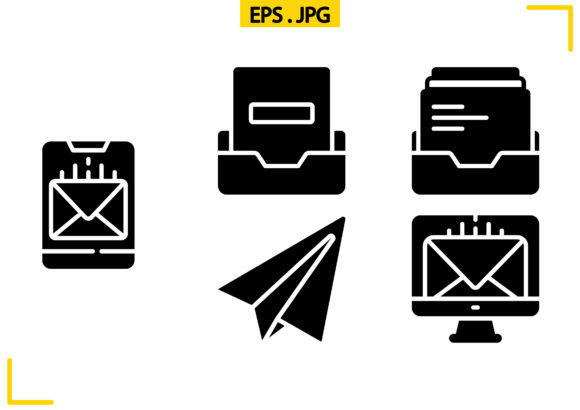 Email Actions Solid Graphic Icons By raraden655