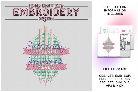 Print on Demand: Embroidery Forever Sewing & Crafts Embroidery Design By gentlemancrafter