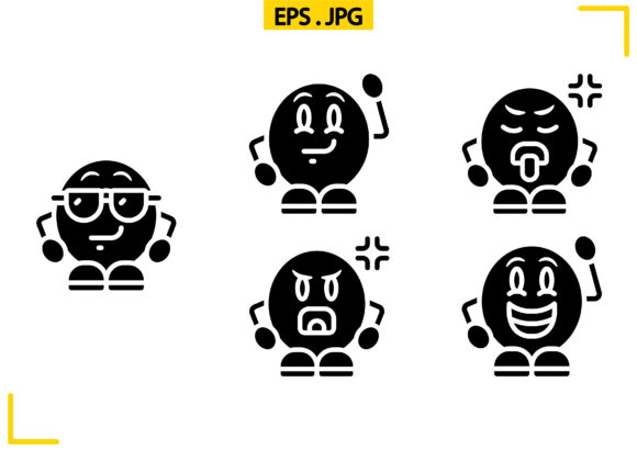 Download Free Emoji People Solid Graphic By Raraden655 Creative Fabrica for Cricut Explore, Silhouette and other cutting machines.