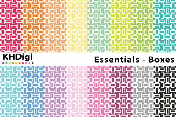 Download Free Essentials Boxes Digital Paper Graphic By Khdigi Creative for Cricut Explore, Silhouette and other cutting machines.