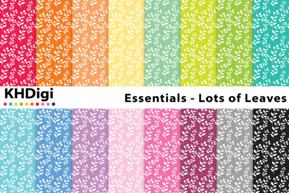 Print on Demand: Essentials - Lots of Leaves Graphic Backgrounds By KHDigi