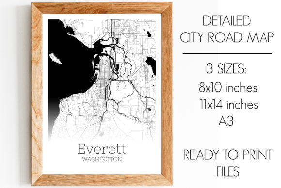 Download Free Everett Washington City Map Graphic By Svgexpress Creative Fabrica for Cricut Explore, Silhouette and other cutting machines.
