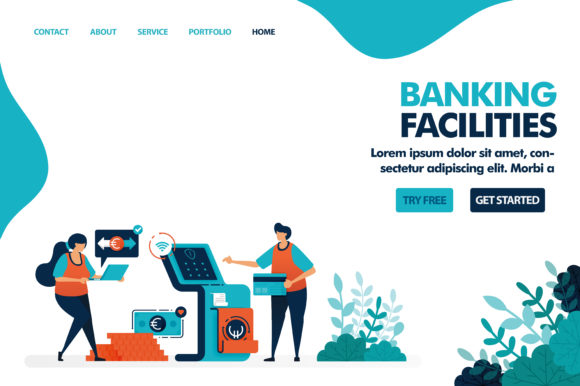 Download Free Facilities On Banking Service Graphic By Setiawanarief111 for Cricut Explore, Silhouette and other cutting machines.
