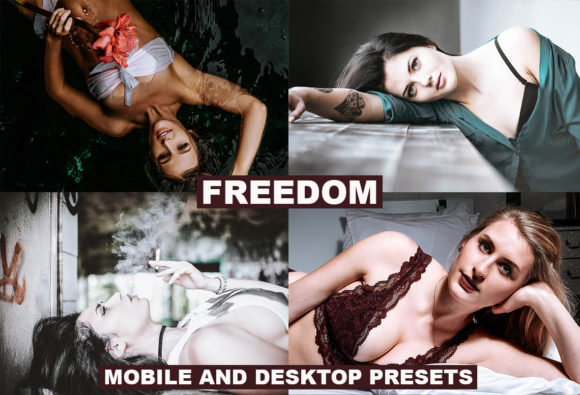 Freedom Desktop & Mobile Presets Graphic Actions & Presets By Thiago Vibesp Creative - Image 1