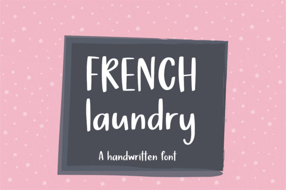 Print on Demand: French Laundry Script & Handwritten Font By sunday nomad