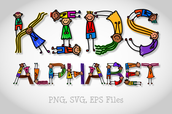 Download Free Funny Bendy Kids Alphabet Graphic By Prawny Creative Fabrica for Cricut Explore, Silhouette and other cutting machines.