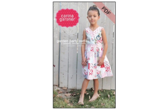 Garden Party Outfit Sewing Pattern Graphic Sewing Patterns By carina2 - Image 1