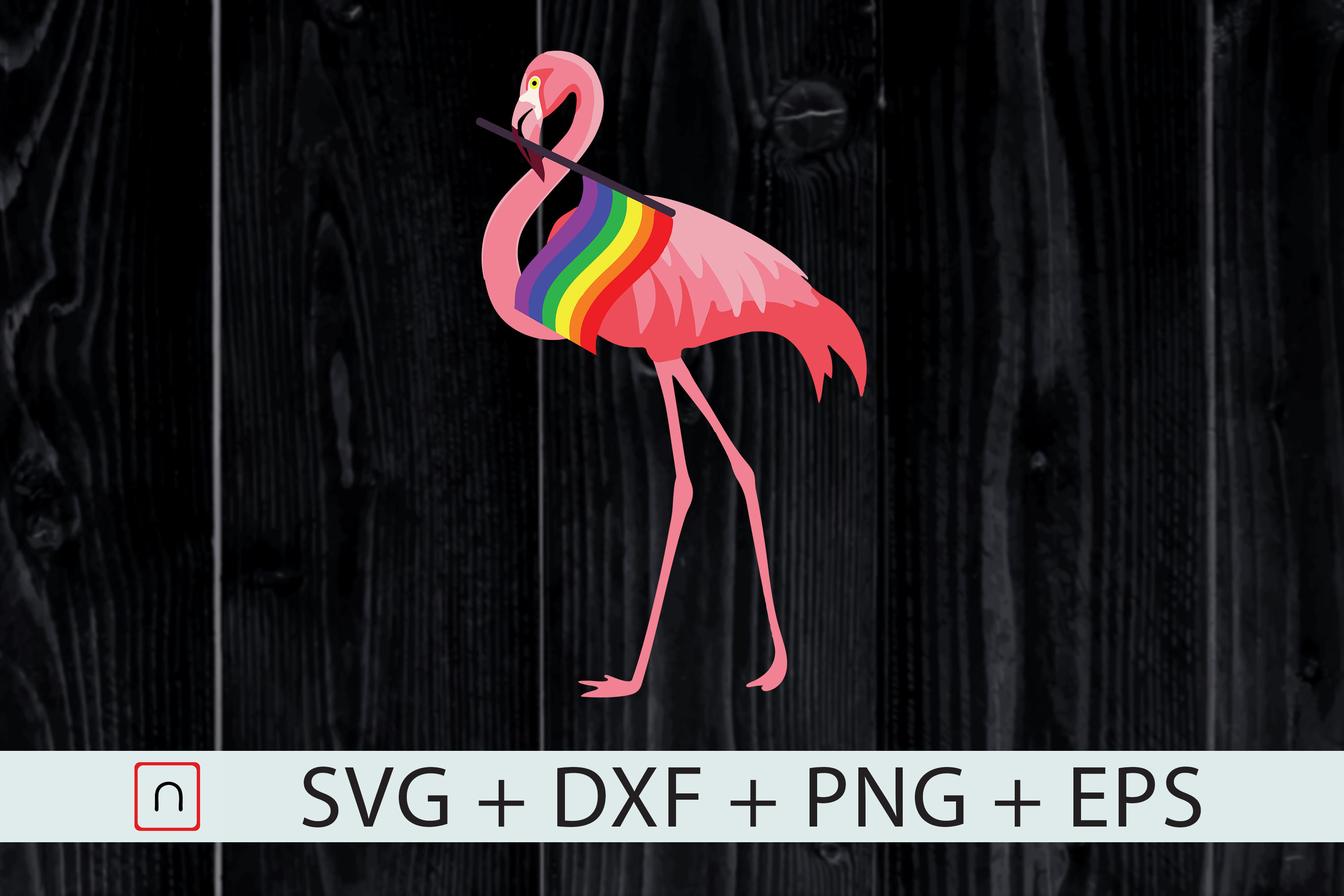 Download Free Gay Pride Pink Flamingo Lgbt Pride Graphic By Novalia Creative for Cricut Explore, Silhouette and other cutting machines.