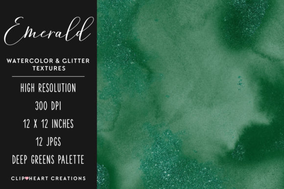 Download Free Green Glitter Watercolor Digital Papers Graphic By for Cricut Explore, Silhouette and other cutting machines.