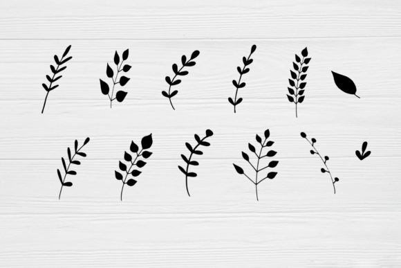Hand Drawn Leaves Graphic By Magic World Of Design Creative