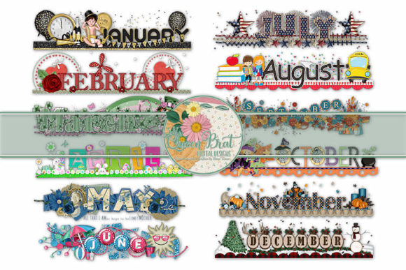 Print on Demand: Holiday Calendar Tops Graphic Illustrations By QueenBrat Digital Designs
