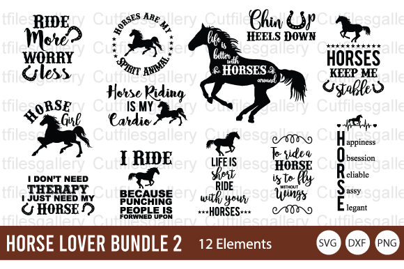 Horse Lover Bundle  Graphic Crafts By cutfilesgallery