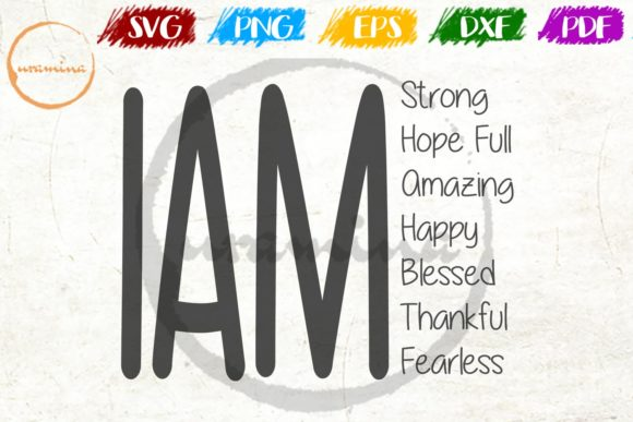Download Free I Am Strong Hope Full Amazing Happy Graphic By Uramina for Cricut Explore, Silhouette and other cutting machines.