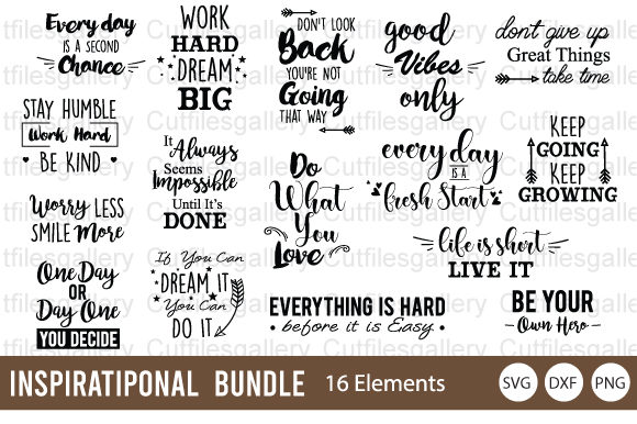 Inspirational Bundle Graphic By Cutfilesgallery Creative Fabrica
