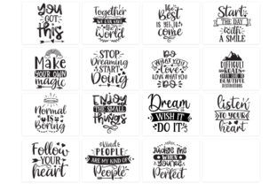 Print on Demand: Inspirational and Motivational Bundle Graphic Print Templates By Designdealy 2