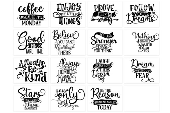 Download Free Inspirational And Motivational Bundle Graphic By Designdealy Com SVG Cut Files