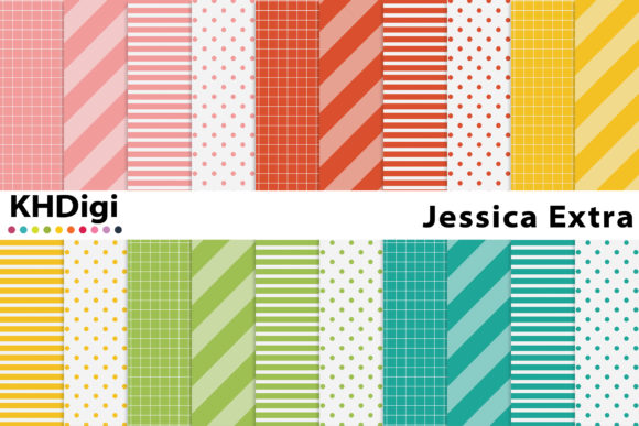 Print on Demand: Jessica Extra - Digital Paper Graphic Backgrounds By KHDigi