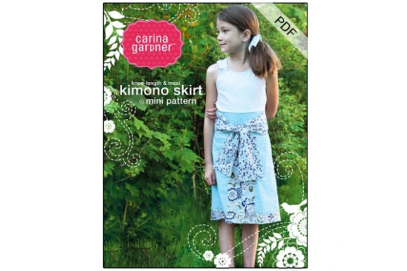 Kimono Mini Skirt Sewing Pattern Graphic Sewing Patterns By carina2