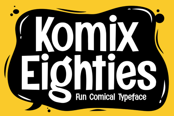 Print on Demand: Komix Eighties Display Font By figuree studio