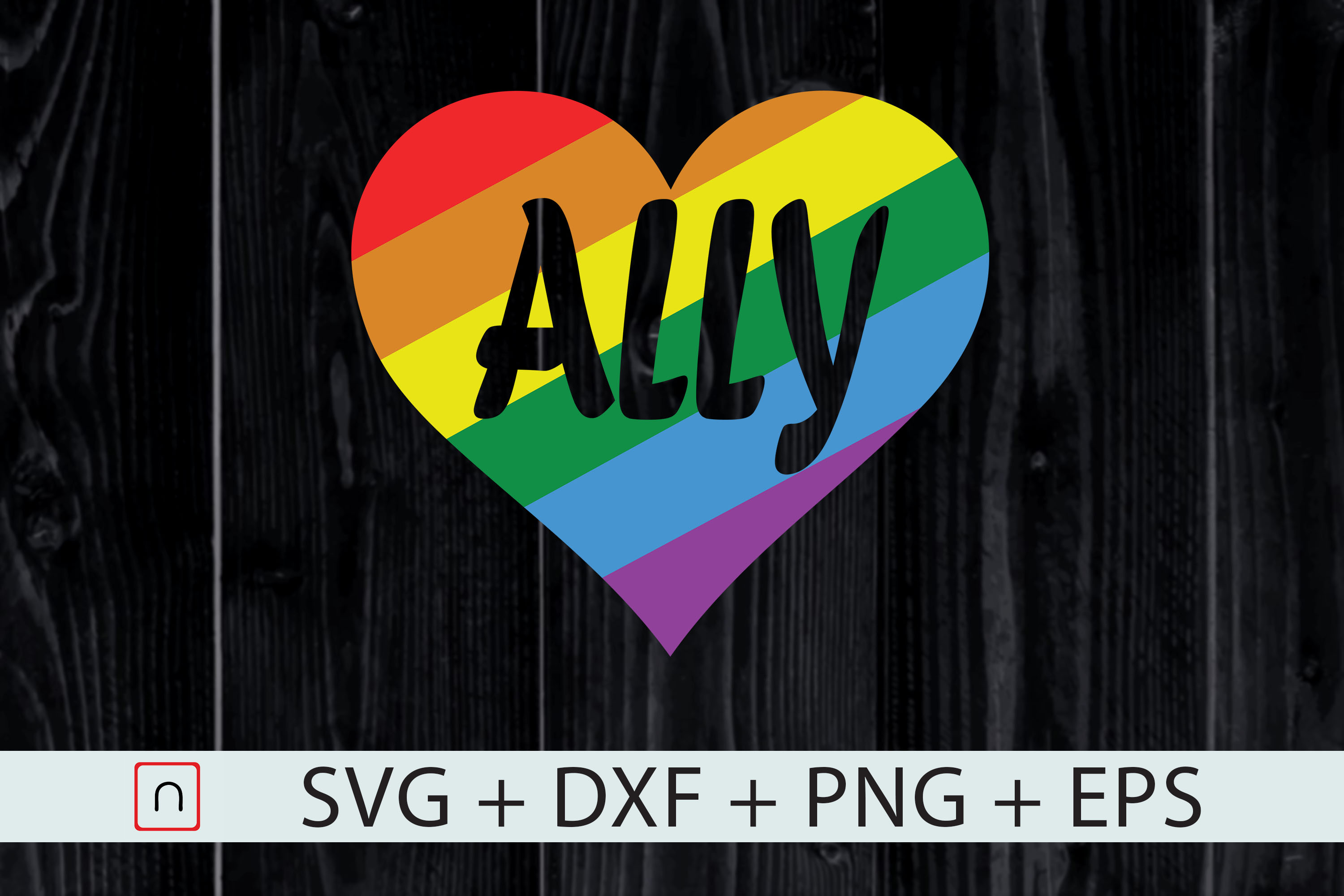 Download Free Lgbtq Ally Gay Pride Cutting Files Graphic By Novalia Creative for Cricut Explore, Silhouette and other cutting machines.