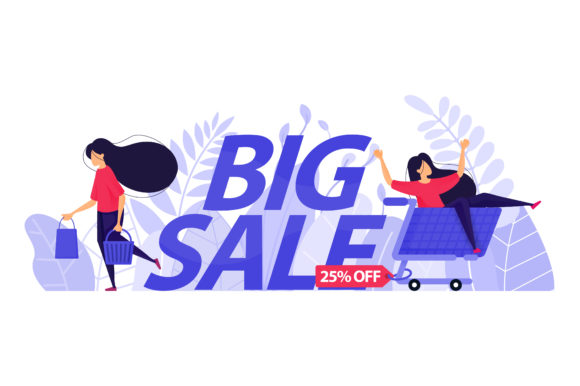 Print on Demand: Landing Page of 25% off Big Sale Graphic Graphic Templates By setiawanarief111