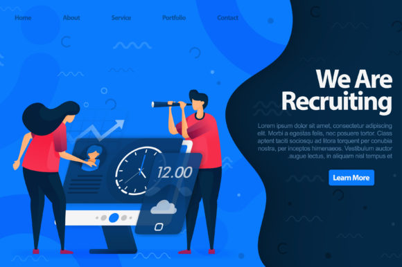 Download Free Landing Page Of Recruiting Employees Graphic By Setiawanarief111 for Cricut Explore, Silhouette and other cutting machines.