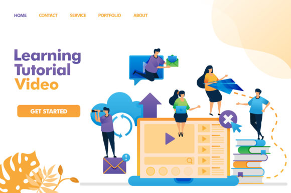 Download Free Landing Page Of Learning Tutorial Video Graphic By for Cricut Explore, Silhouette and other cutting machines.