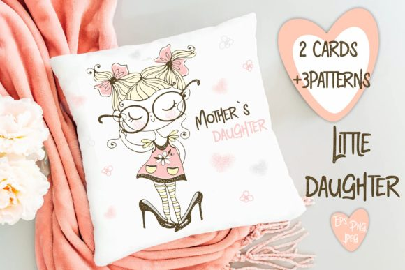 Download Free Little Daughter Graphic By Grigaola Creative Fabrica for Cricut Explore, Silhouette and other cutting machines.
