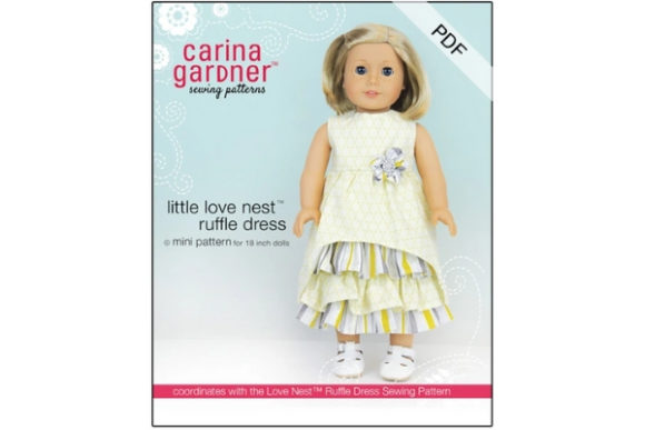 Little Love Nest Ruffle Dress Sewing Pattern Graphic Sewing Patterns By carina2 - Image 1