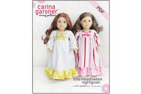 Little Meadowlark Nightgown Sewing Pattern Graphic Sewing Patterns By carina2