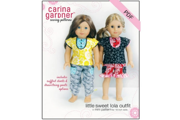 Little Sweet Lola Outfit Sewing Pattern Graphic Sewing Patterns By carina2 - Image 1