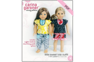 Little Sweet Lola Outfit Sewing Pattern Graphic Sewing Patterns By carina2